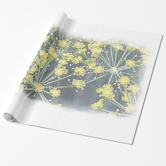Watercolor Dill on White Large Wrapping Paper