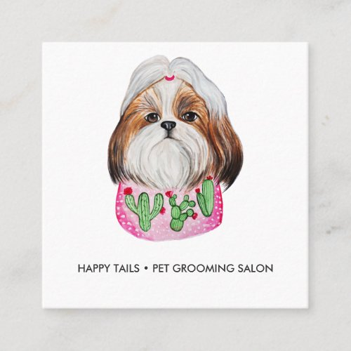 Watercolor Dog Business Card