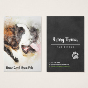 Unique dog business cards templates zazzle watercolor dog business card reheart Gallery