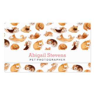 Watercolor Dogs Pattern Double-Sided Standard Business Cards (Pack Of 100)