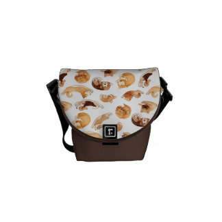 Watercolor Dogs Pattern Courier Bag