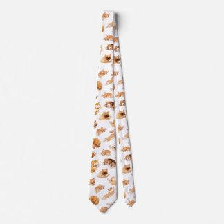 Watercolor Dogs Pattern Tie