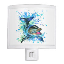 Watercolor Dolphin Night Light