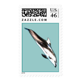 Watercolor Dolphin Postage Stamps