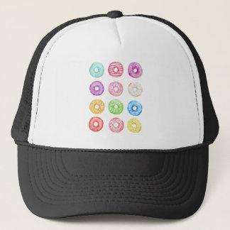 Watercolor donuts pattern trucker hat