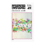 Watercolor Dots Love Postage