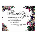 Watercolor Dragon Lilies Thank You Postcards