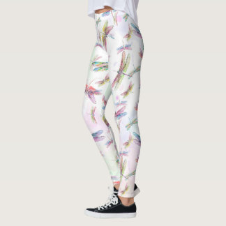 Watercolor Dragonflies Legging