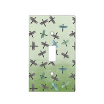 Watercolor Dragonflies Light Switch Cover