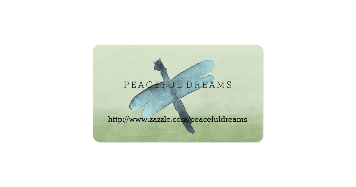 Watercolor dragonfly business card zazzle for Dragonfly business cards