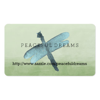 Watercolor Dragonfly Double-Sided Standard Business Cards (Pack Of 100)