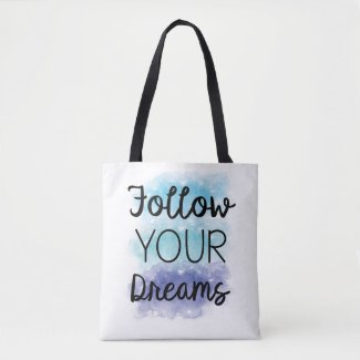 Watercolor Dream Tote Bag Eco Shopping