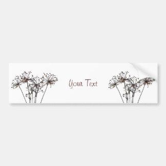 Watercolor Dried Flowers Bumper Sticker
