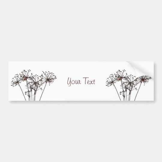 Watercolor Dried Flowers Bumper Sticker