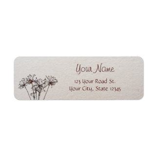 Watercolor Dried Flowers Label