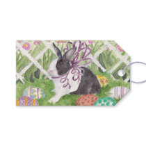 Watercolor Dutch Rabbit Easter Eggs Gift Tags