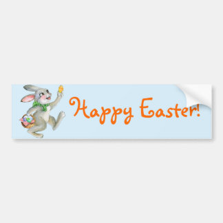 Watercolor Easter bunny Car Bumper Sticker