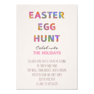 Watercolor Easter Egg Hunt Card