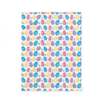 Watercolor Easter Egg Hunt Pattern Fleece Blanket