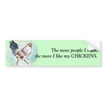 Watercolor Easter Egger Rooster Bumper Sticker