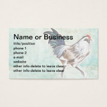 Watercolor Easter Egger Rooster Business Card