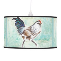 Watercolor Easter Egger Rooster Ceiling Lamp