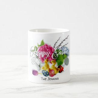 Watercolor Easter Eggs, Ducklings & Spring Flowers Coffee Mug