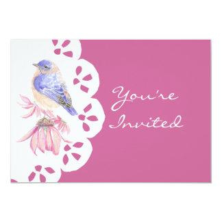 Watercolor Eastern Bluebird Blue Bird Art Card