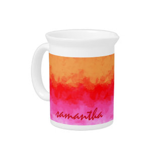 Watercolor Effects Fruit Salad ID134 Drink Pitcher