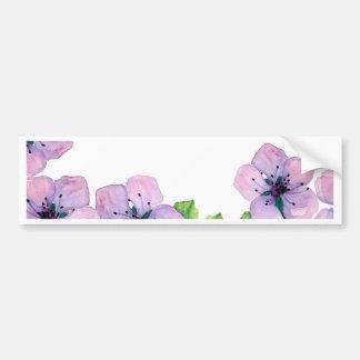 Watercolor elegant card with japanese sakura bumper sticker