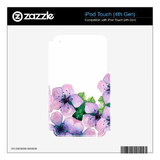 Watercolor elegant card with japanese sakura iPod touch 4G skin