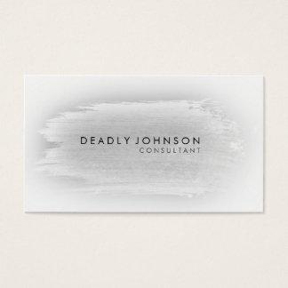 Watercolor Elegant Simple Splatter Black Gray Business Card