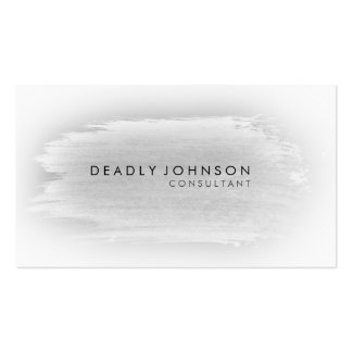 Watercolor Elegant Simple Splatter Black Gray Double-Sided Standard Business Cards (Pack Of 100)