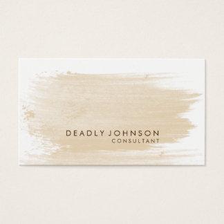 Watercolor Elegant Simple Splatter Cream Business Card