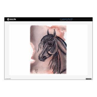 """Watercolor Equine Art 17"""" Laptop Skin"""