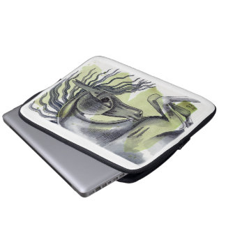 Watercolor Equine Art Computer Sleeve