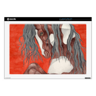 """Watercolor Equine Art Decal For 17"""" Laptop"""