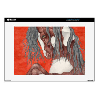 "Watercolor Equine Art Decals For 15"" Laptops"