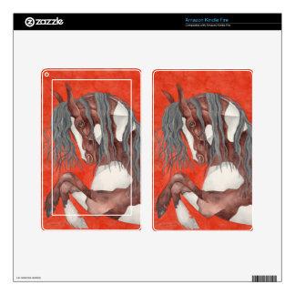 Watercolor Equine Art Kindle Fire Skin