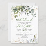 """Watercolor Eucalyptus Greenery Bridal  Brunch Invitation<br><div class=""""desc"""">Create the perfect Bridal Brunch invite with this """"Watercolor Eucalyptus Greenery"""" template. This high-quality design is easy to customize to match your wedding colors, styles and theme. For further customization, please click the """"customize further"""" link and use our design tool to modify this template. If you need help or matching...</div>"""
