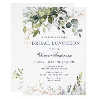 Watercolor Eucalyptus Greenery BRIDAL LUNCHEON Invitation