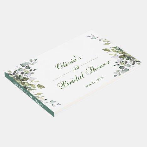 Watercolor Eucalyptus  Greenery Bridal Shower Guest Book