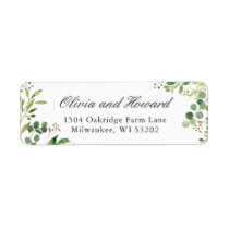 Watercolor Eucalyptus Greenery Foliage Leaves Label