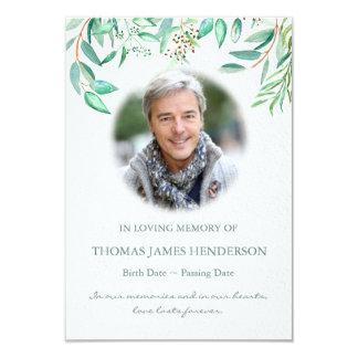 Watercolor Eucalyptus Sympathy Funeral Thank You Card