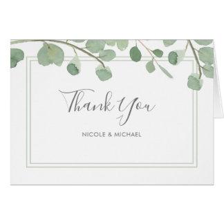 Watercolor Eucalyptus Thank You Card
