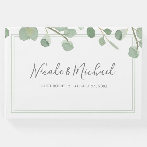 Watercolor Eucalyptus Wedding Guest Book