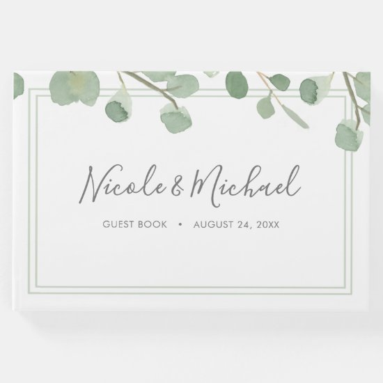 Watercolor Eucalyptus Wedding Guest Book