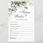 """Watercolor Eucalyptus Wishes & Advice Card<br><div class=""""desc"""">Watercolor Eucalyptus Wishes & Advice Card. Personalize with the bride to be's name and date of shower.  For further customization,  please click the """"customize further"""" link. If you need help,  contact me please.</div>"""