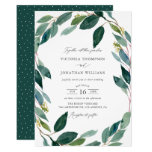Watercolor Eucalyptus Wreath Botanical Wedding Invitation