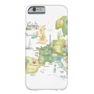 Watercolor Europe Map - iPhone 6 case